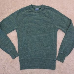 J Crew Vintage Fleece sweatshirt XS slim fit green